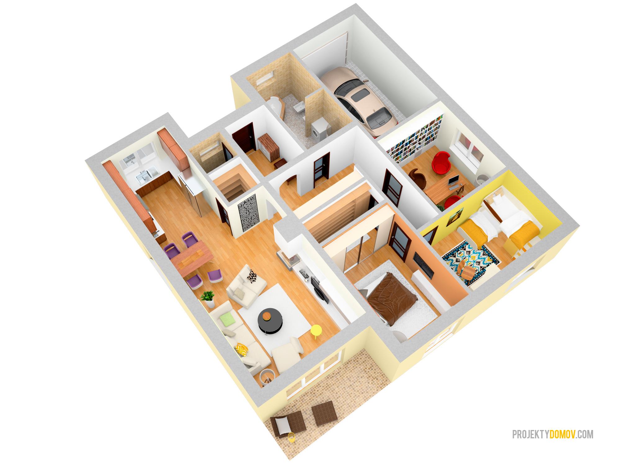 Projekty rodinných domov - projekt domu dom rocca