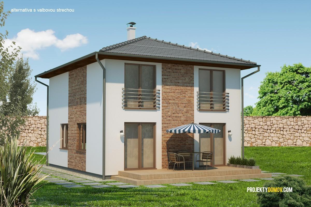 Poschodovy dom s valbovou strechou