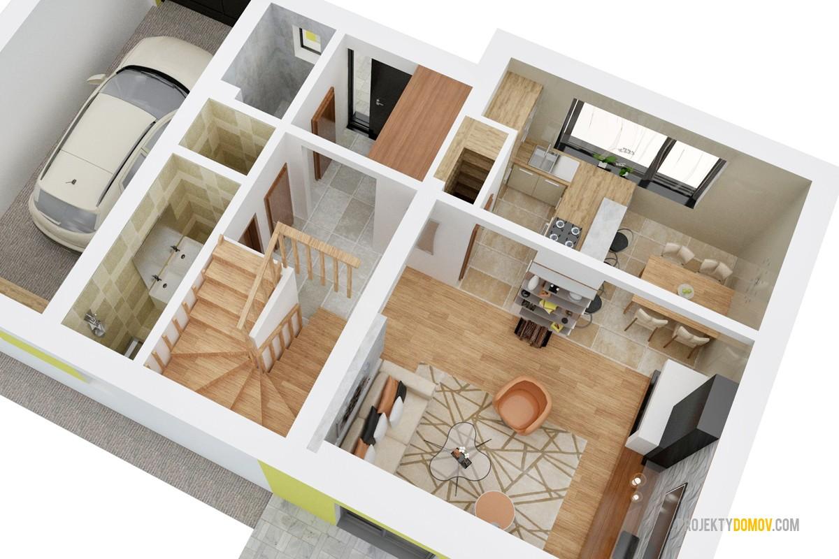 Poschodový Dom S Garážou Projekt Domu Kelly