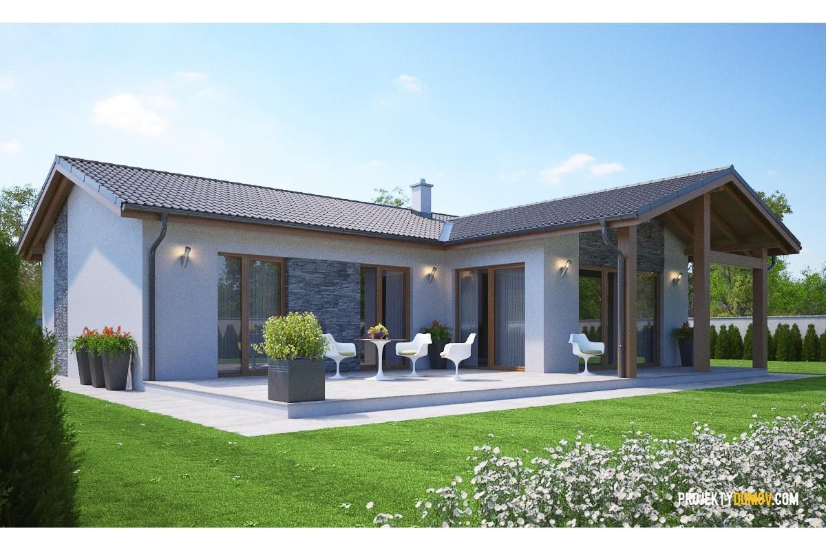 Najpredávanejšie Domy Projekt Domu Do L Bungalov 307